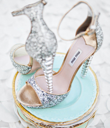 Miu Miu Crystal Shoes